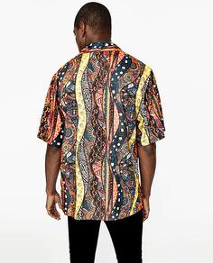 에스닉 패턴 셔츠