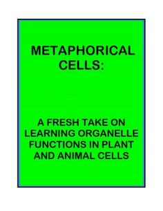 This is a 2-part lesson to help students become familiar with the functions of organelles in plant and animal cells in a fun way that stretches the...