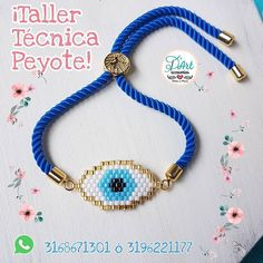 ¡Taller Técnica Peyote! . . . ¿Quieres aprender a hacer esta Linda Pulsera Ojo Turco? . . En D'Art te enseñamos como hacerla con técnica… Fabric Jewelry, Jewelry Art, Beaded Jewelry, Handmade Jewelry, Beaded Necklace, Bead Loom Bracelets, Evil Eye Bracelet, Embroidery Jewelry, Loom Beading