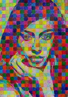 chuck close drawings - Google Search