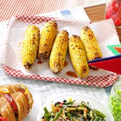 Smokin' Spiced Corn  from Taste of Home  -  Spice it up, or tone it down.   Either way this is another way to fix your corn on the grill.