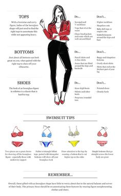How to dress for your body shape : Hourglass Shaped Via