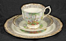 Vintg Royal Albert England SILVER BIRCH Bone China Tea Cup/Saucer/Dessert Plate