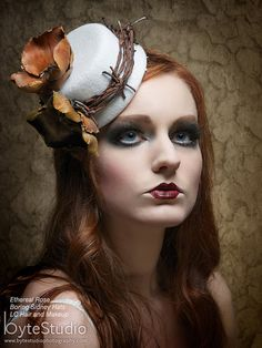 Fascinator White wool mini hat tilt hat Sale by BoringSidney Fascinator Hats, Fascinators, Natural Redhead, Love Hat, Hats For Sale, Head Accessories, Fantasy Makeup, Cool Hats, Headdress
