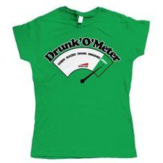 38824f75 Drunkometer, Funny Womens St Patricks Day T Shirt #Vectorbomb #stpatricksday  st.patricks