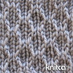 Wrong side of knitting stitch pattern – Slip Stitch 14 : www.knitca.com