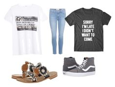 """""""Untitled #150"""" by shortblue13 ❤ liked on Polyvore featuring Jack Rogers, MANGO, Frame Denim and Vans"""