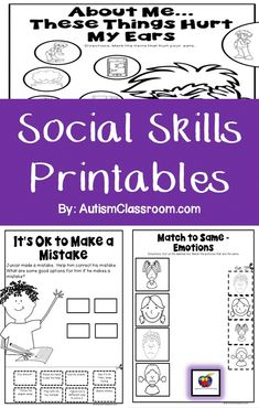 Social Skills Printables for Students with Autism & Similar Special Needs