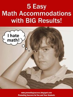 It's Okay to Provide Math Accommodations! Fair isn't always equal.  Here are five math accommodations for your students!