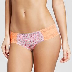 Women's Cheeky Laser Cut with Lace Boyshorts
