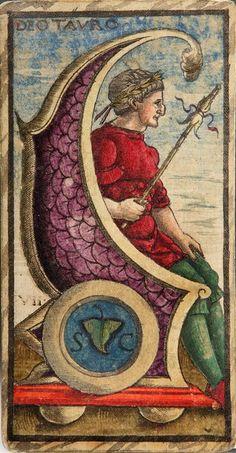 Ancient Venitian tarot card (1491) - tarocchi Sola Busca