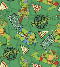 Nickelodeon Teenage Mutant Ninja Turtle Turtle Power Flannel Fabric