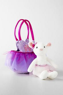 Plush Mouse with Purse