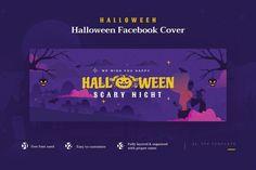 Halloween Facebook Cover & Banner Template AI, EPS