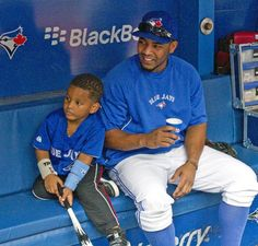 Edwin Encarnación and his protege. Blue Jay Way, Go Blue, Mlb Blue Jays, Baseball Toronto, Mlb Teams, Love Mom, Toronto Blue Jays, Girls Best Friend, Role Models