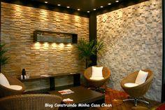 Construindo Minha Casa Clean: Paredes com Pedras!!! Canjiquinha, Palito, Filete ou Mosaico!