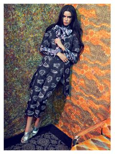 modern 70's    Hind Sahli is 70s Chic in Psychedelic Prints for Arise #19