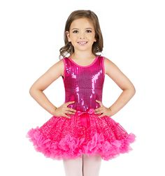 La Petite Ballerina Child Sequin Tutu Dress - 23.00 - jazz, tap - could we sew pink sleeves on it?