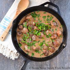 Swedish Meatballs a comfort food classic.