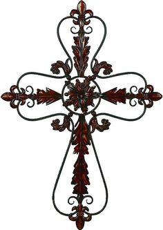 Wall Decor Crosses black cross wall art, decorative cross, iron cross, infinity cross