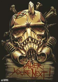 the Skull Trooper ( Inspired by Star Wars Stormtrooper ) by BlackoutBrother Stormtrooper, Darth Vader, Star Wars Art, Star Trek, Totenkopf Tattoos, Drawn Art, Tatoo Art, The Force Is Strong, Love Stars