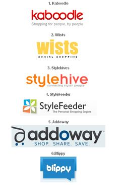 Social Shopping Sites - Find products reviewed and referred by people. It help to boost sales!!