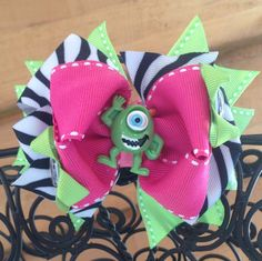 Mike Wazowski Monsters Inc hair bow  by MegansHairCandy on Etsy, $9.00