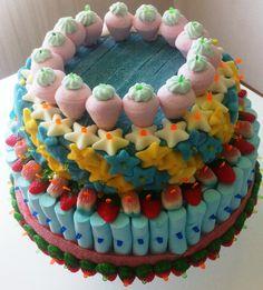 tarta de chuches por pomponsweet