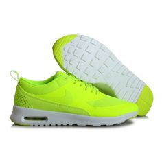 Nike Air Max THEA PRINT 599408-710 Damskie Zielone Zolte