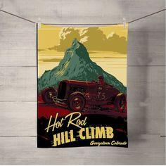 Hot Rod Hill Climb Bath Towel Beach Towels