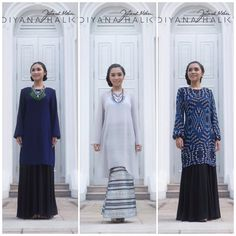 I'm in love with blue now.. Have you seen the colors we've got for #DiyanaXFatimah.. Log on to www.diyanaxfatimah.com to view our full range of classy pieces at affordable prices. While stocks last.  Left to right: Kurung Dress, Brocade Kurung Pahang & Blue Ikkat Kurung Dress  #diyanaxfatimah #diyanahalik #FatimahMohsin #DHXFM #onlineshopping #rayacollection #eidcollection #rayacollection #festiveseason