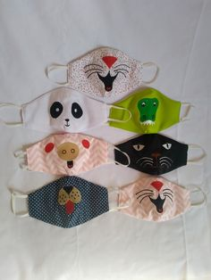 Easy Face Masks, Face Masks For Kids, Diy Face Mask, Bag Patterns To Sew, Sewing Patterns Free, Easy Sewing Projects, Sewing Crafts, Crochet Mask, Crochet Handbags