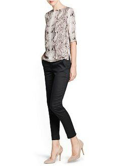 MANGO - CLOTHING - Tops - Snakeskin print flowy blouse