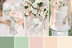 Classic, feminine and timeless this peach and mint wedding inspiration is the perfect combo of shades for a sweet soiree