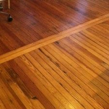 Hardwood floors borders between rooms floor runs the for Reseal cork flooring