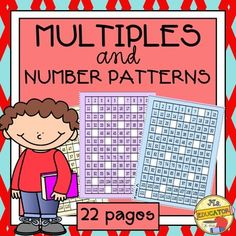 Help students recognize number patterns to 120 and prepare for multiplication. Students can count and see different patterns on a chart for multiples of 3s, 4s, 6s, 7s, 8s, and 9s. 25 worksheets (color and black & white) allow students to write in number patterns.**********Additional Products for your students:Calendar Templates to December 2016Rainbow Ten MathBookmarks That Teach120 Chart: 10 More and Less/1 More and Less**********Be the first to know about freebies, sales and new products.