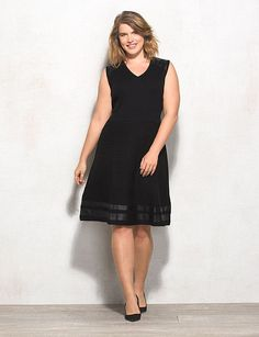 78162abc5d7 sleeveless knee length v neck plus size black dress Faux Leather Dress