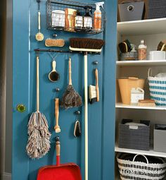 Attrayant Very Attractive And Practical Broom Closet! Cleaning Supply Storage,  Cleaning Supplies, Closet Organization