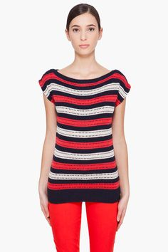 MARC BY MARC JACOBS //  KAY STRIPE SWEATER T-SHIRT    $85.00 USD