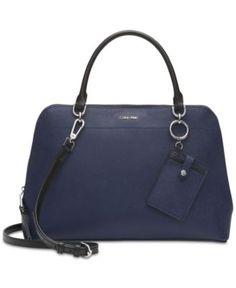 55216dec78d61 Calvin Klein – Hudson – Saffiano – Ledertasche – Blau