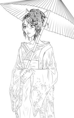 printable geisha coloring pages - 1000 images about asiatique on pinterest geishas