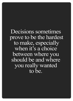 decisions, decisions...