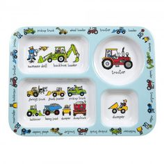 Working Wheels Compartment Tray - Lucas loves cars