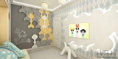 Projekt wnętrza pokoju dziecięcego. Wesoła kolorystyka i przyjazna dzieciom przestrzeń. Więcej na www.artcoredesign.pl