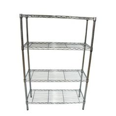 Style Selections 54-in H X 36-in W X 14-in D 4-tier Steel Freestanding Shelving…