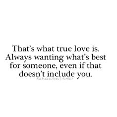 """Like what Olaf says:""""Love is putting someone else's needs before your's"""" :)"""