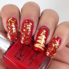 christmas by marnailart #nail #nails #nailart