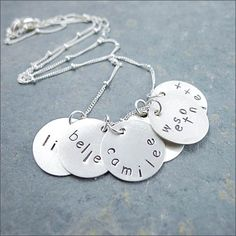 classic disc mom necklace from MyRetroBaby.com Largest selection of Personalized jewelry!