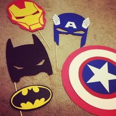 "DIY SuperHero ""Photo Booth Props"" 