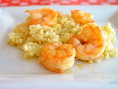 Cauliflower Risotto With Grilled Shrimp #justeatrealfood #creativeandhealthyfunfood